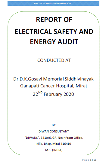 E-report of Energy and Safety Audit of Hospital